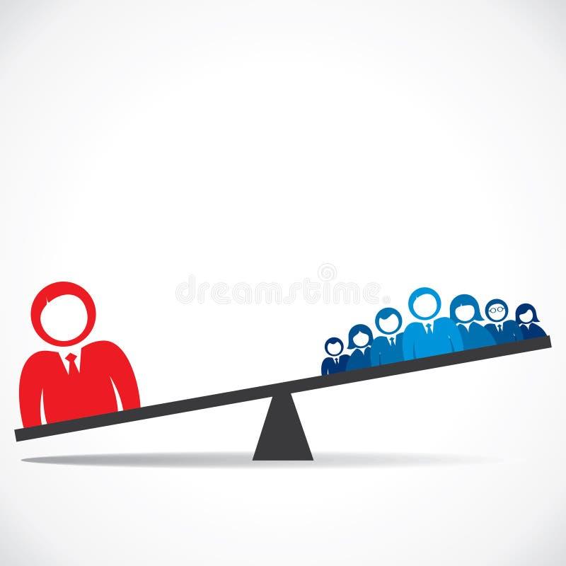 Het concept van de vergelijking zaken stock illustratie