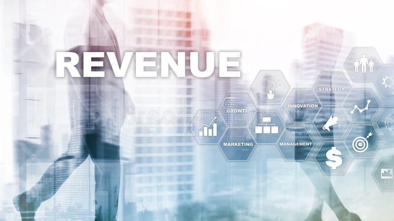 Het concept van de verhogingsopbrengst Het schaven de groei en verhoging van positieve indicatoren in zijn zaken Gemengde media D royalty-vrije stock afbeeldingen