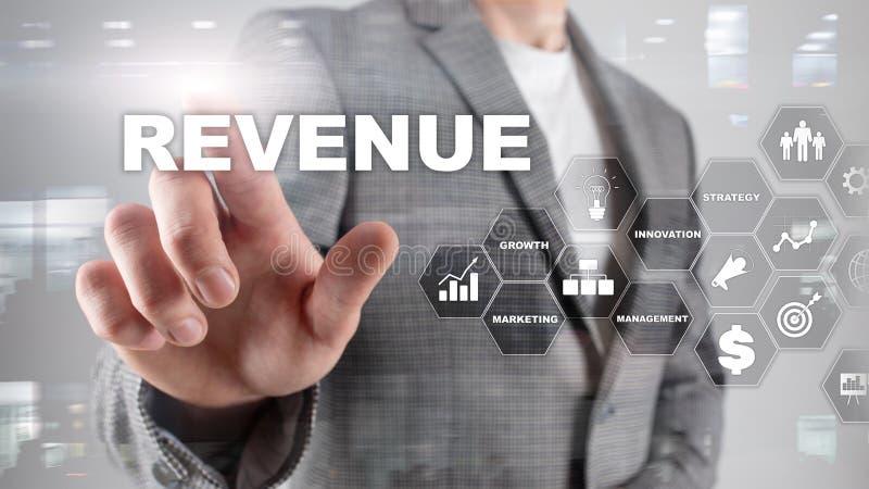 Het concept van de verhogingsopbrengst Het schaven de groei en verhoging van positieve indicatoren in zijn zaken Gemengde media p royalty-vrije stock afbeeldingen