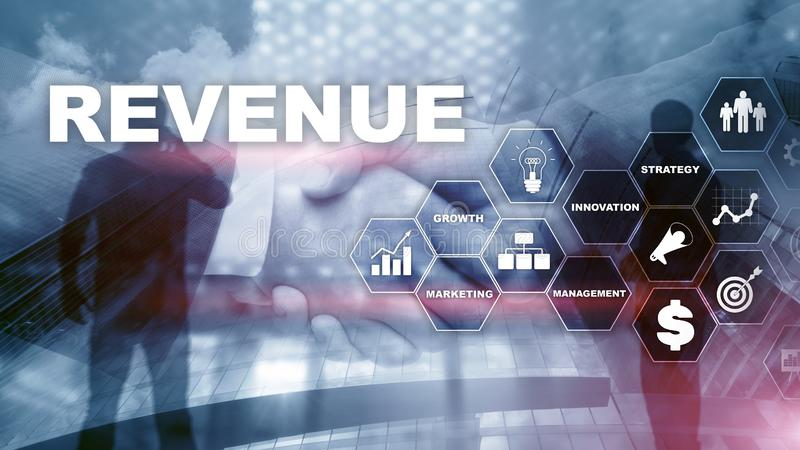 Het concept van de verhogingsopbrengst Het schaven de groei en verhoging van positieve indicatoren in zijn zaken Gemengde media p royalty-vrije stock fotografie
