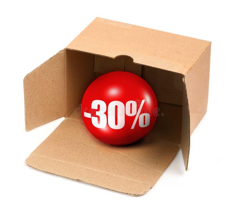 Het concept van de verkoop - 30 percenten royalty-vrije illustratie