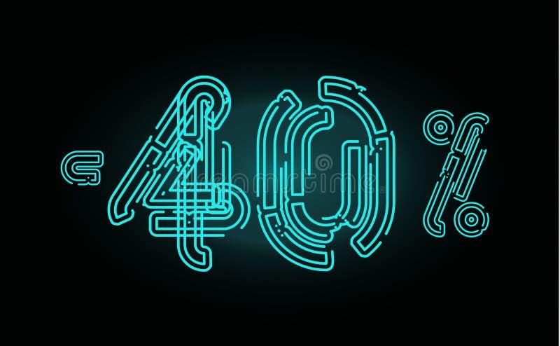 Het concept van de 40 Verkoopaffiche De bannerontwerpsjabloon van de veertig percentenkorting voor marketing, zaken, reclame en W royalty-vrije illustratie
