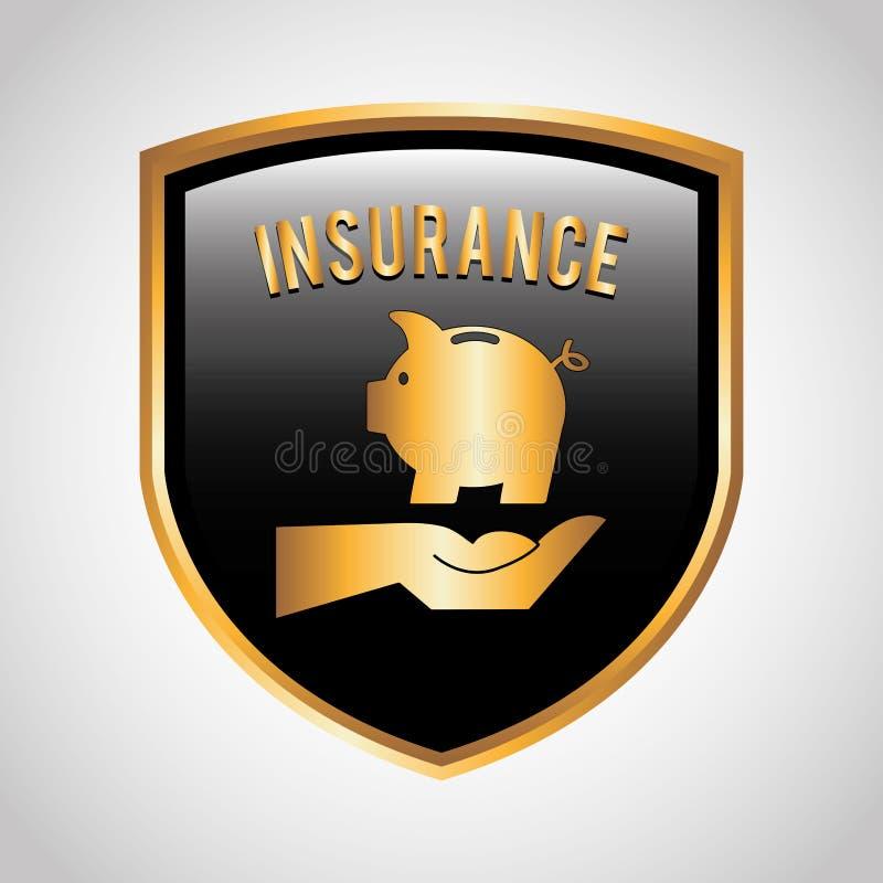 Het concept van de verzekering royalty-vrije illustratie