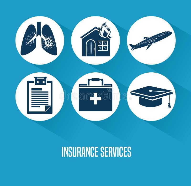 Het Concept van de verzekeringsdiensten royalty-vrije illustratie