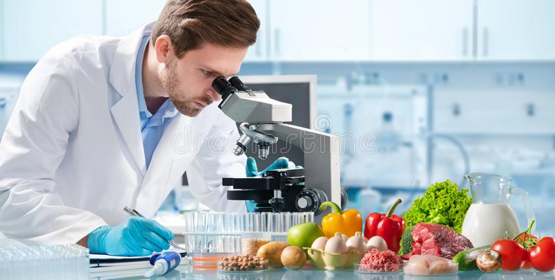 Het concept van de voedselkwaliteitcontrole royalty-vrije stock foto's