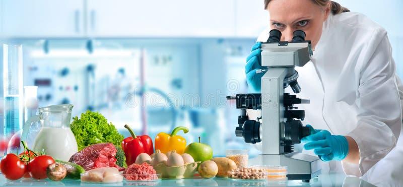 Het concept van de voedselkwaliteitcontrole stock afbeelding