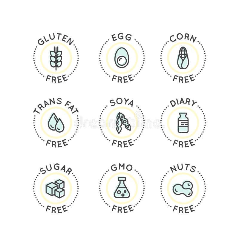 Het Concept van de voedselonverdraagzaamheid royalty-vrije illustratie