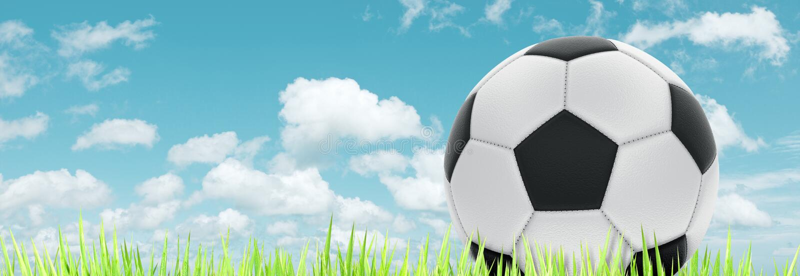 Het concept van de voetbal royalty-vrije illustratie