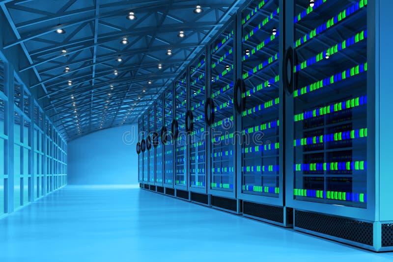 Het concept van de voorzien van een netwerkcommunicatietechnologie royalty-vrije illustratie