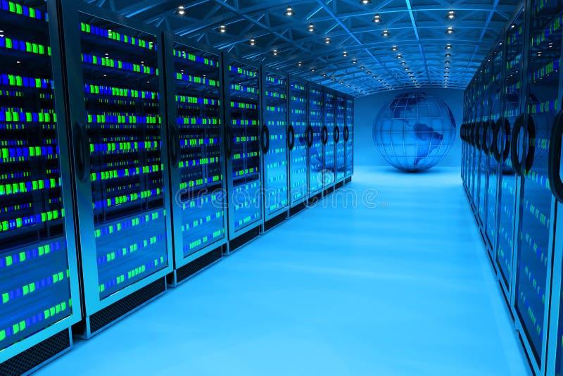 Het concept van de voorzien van een netwerkcommunicatietechnologie stock illustratie