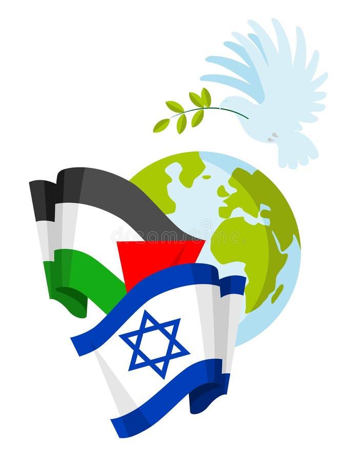Het concept van de de vredesrelatie van Palestina Israël vector illustratie