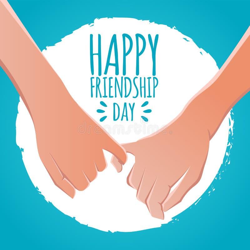 Het concept van de vriendschapsdag vingersbeloften, de voorraad vectorillustratie van de pinkbelofte het ontwerp van de groetkaar royalty-vrije illustratie