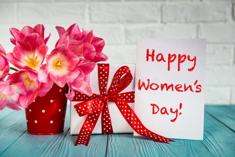 Het Concept van de vrouwen` s Dag stock foto's