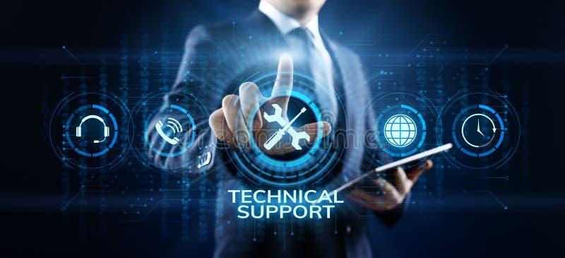 Het concept van de de waarborgkwaliteitsborging van de technische ondersteuningklantenservice royalty-vrije illustratie
