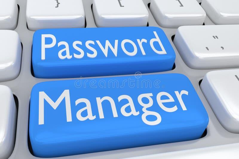 Het concept van de wachtwoordmanager stock illustratie