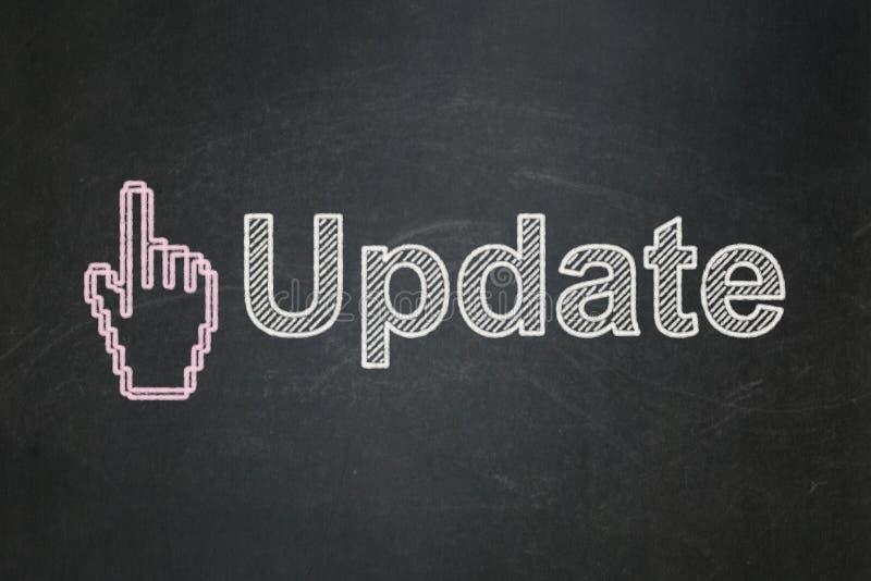 Het concept van de Webontwikkeling: Muiscurseur en Update stock illustratie