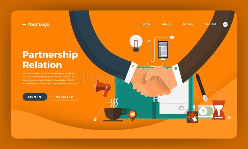 Het concept van het de website vlakke ontwerp van het modelontwerp digitale marketing PA vector illustratie