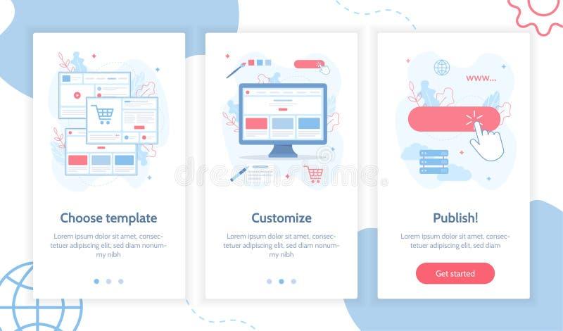 Het concept van de websitebouwer vector illustratie