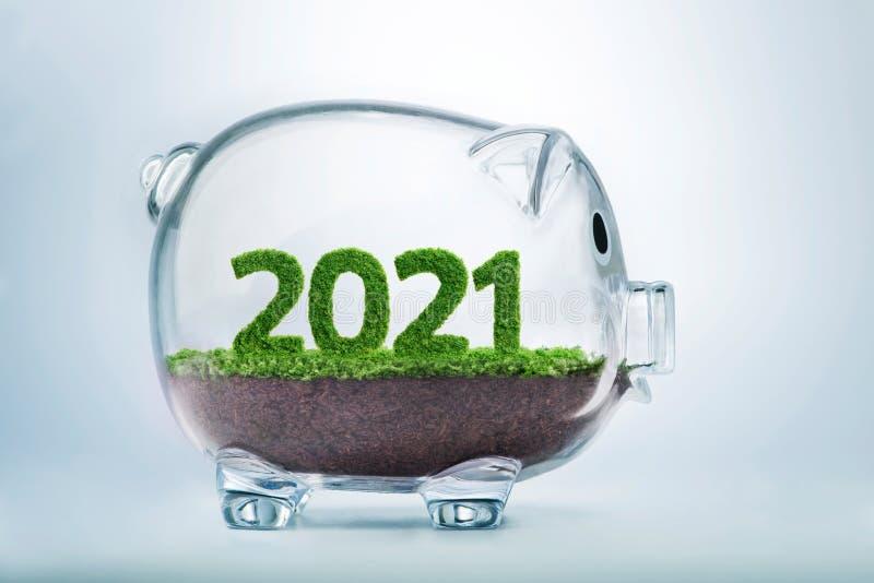het concept van het de welvaartjaar van 2021 royalty-vrije stock foto