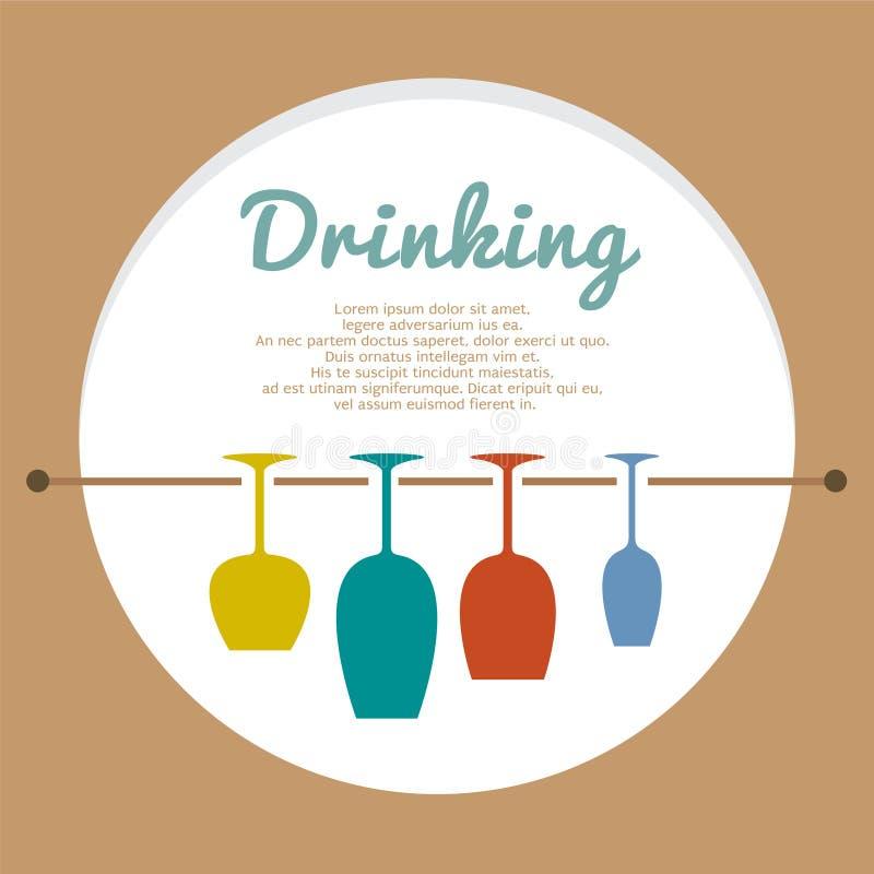 Het Concept van de wijnminnaar stock illustratie