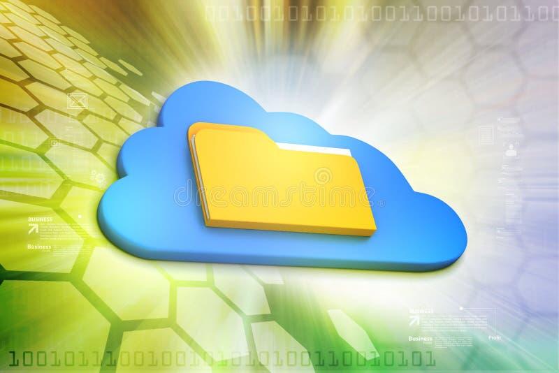 Het Concept van de wolk stock illustratie