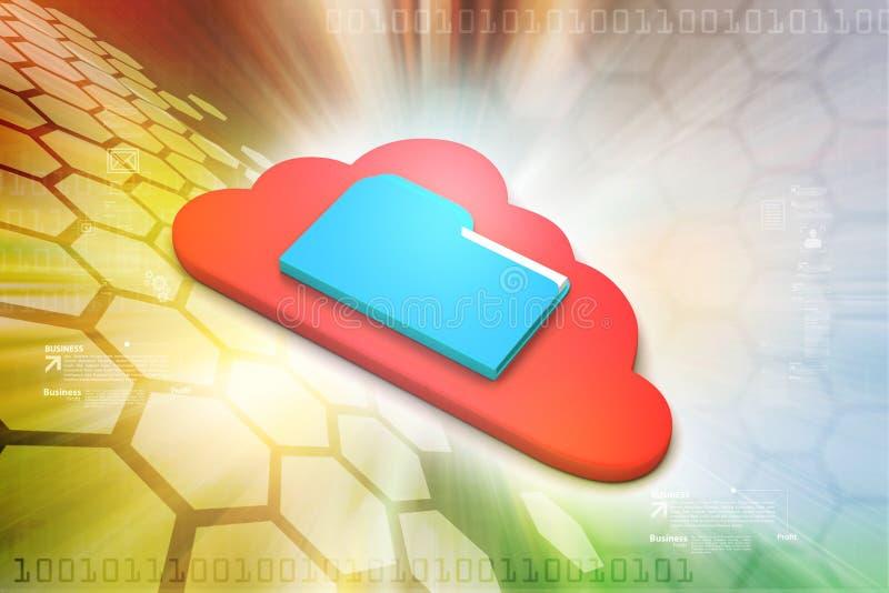 Het Concept van de wolk vector illustratie