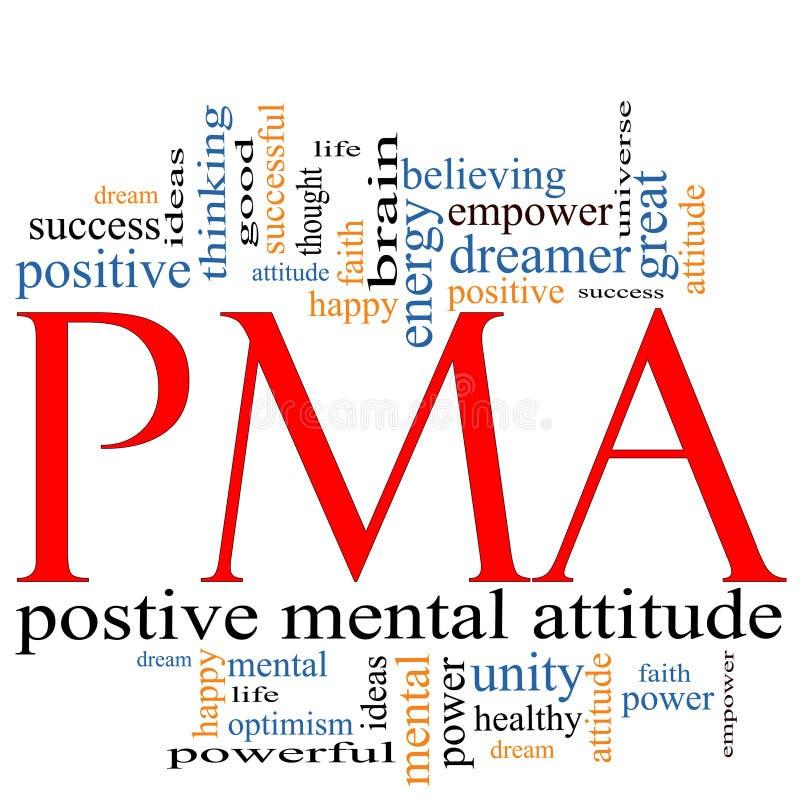 Het Concept van de Wolk van Word PMA stock illustratie