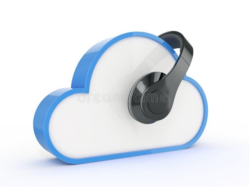 Het concept van de wolkenmuziek stock illustratie