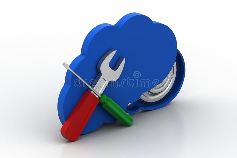 Het concept van de wolkenreparatie vector illustratie