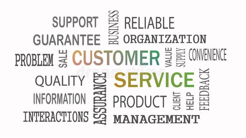 Het concept van de het woordwolk van de klantendienst op witte achtergrond stock illustratie