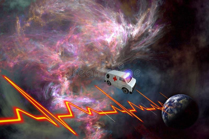 Het concept van de ziekenwagen stock illustratie