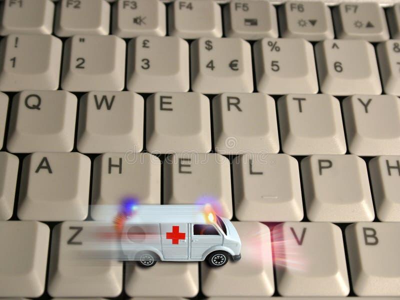 Het concept van de ziekenwagen - technologieëngezondheidszorg stock fotografie