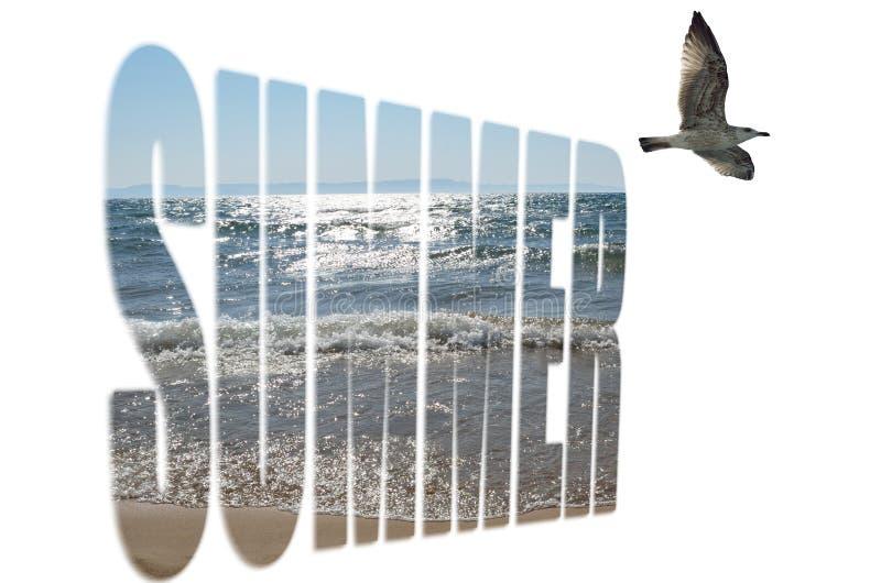Het concept van de zomer stock fotografie