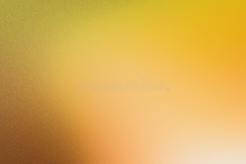 Het concept van de de zomervakantie: Abstract onduidelijk beeldstrand met de gele en blauwe achtergrond van de hemelzonsopgang stock afbeelding