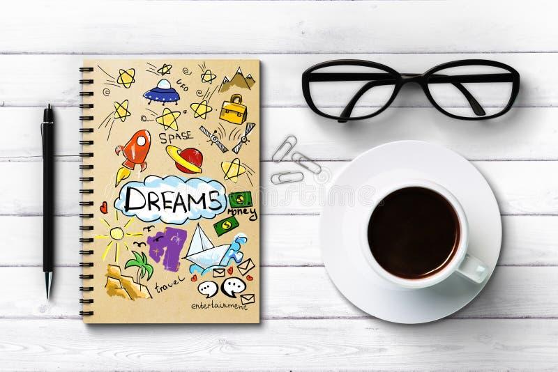 Het concept van dromen vector illustratie