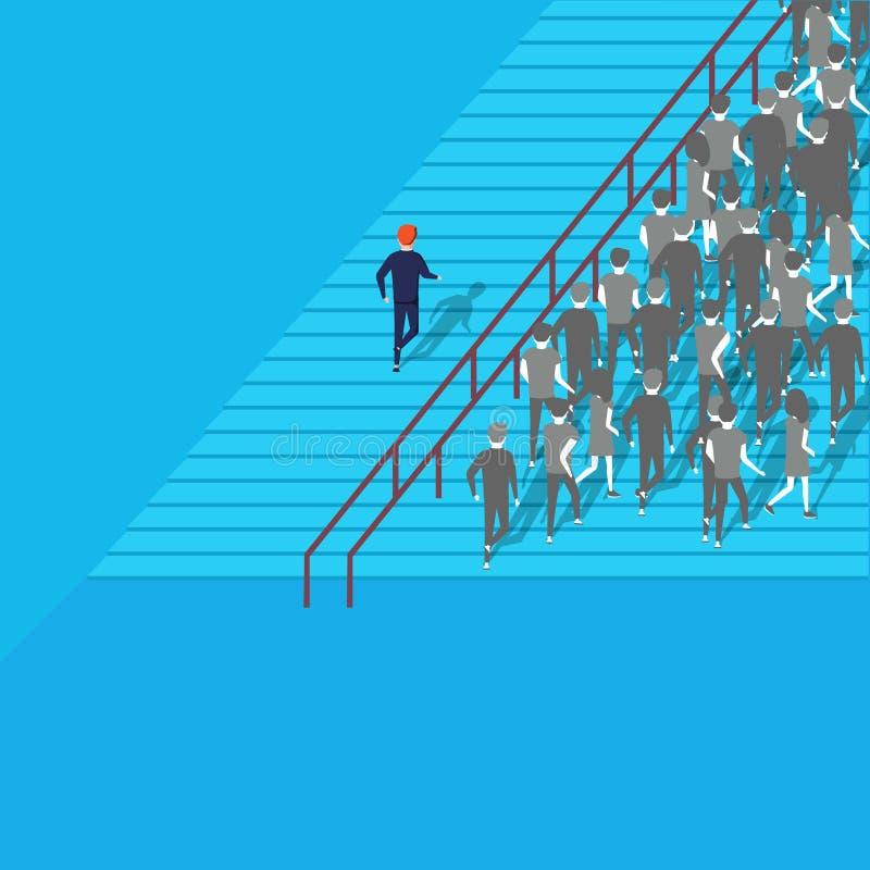 Het Concept van het Economisch besluit mogelijkheden Zekere zakenman die de beste oplossing selecteren royalty-vrije illustratie