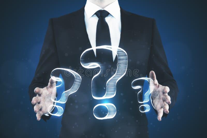 Het concept van FAQ en van de verwarring royalty-vrije stock afbeelding