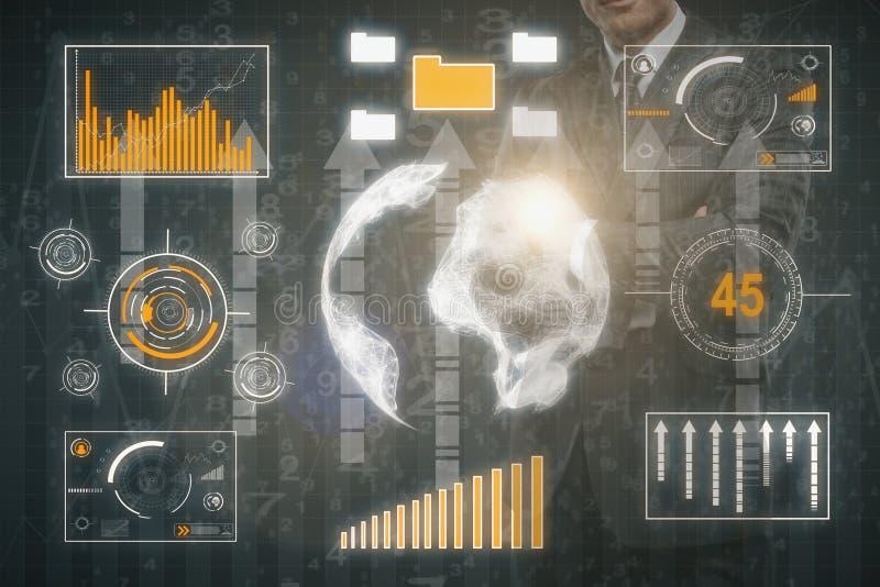 Het concept van gegevens royalty-vrije illustratie