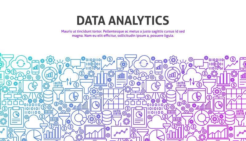 Het concept van gegevensanalytics royalty-vrije illustratie