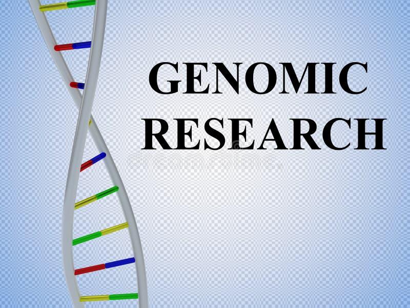 Het concept van het Genomiconderzoek royalty-vrije illustratie
