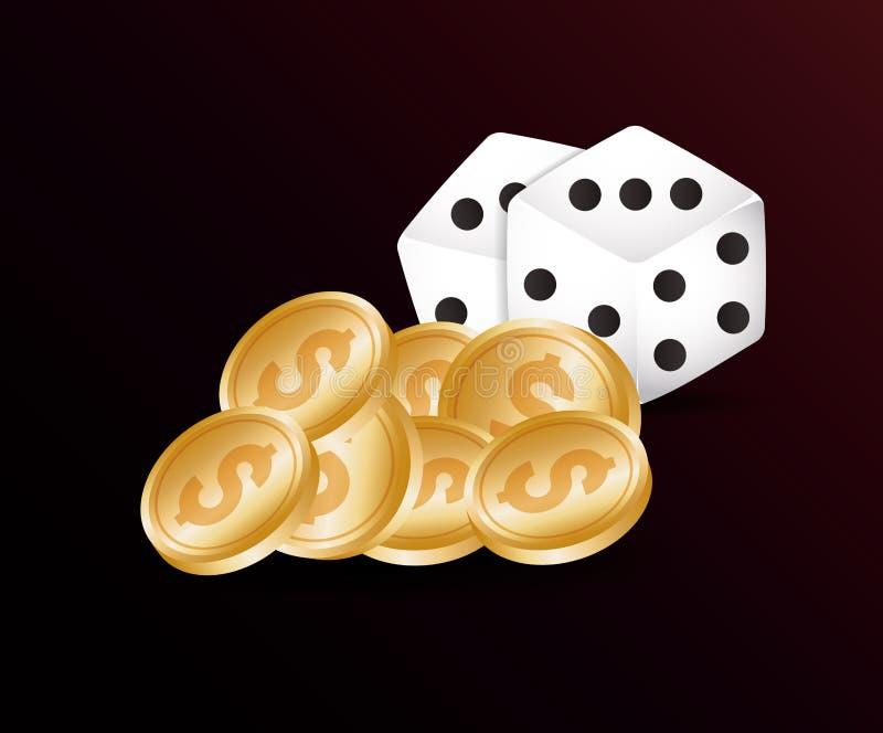 Het concept van het gokcasino stock illustratie