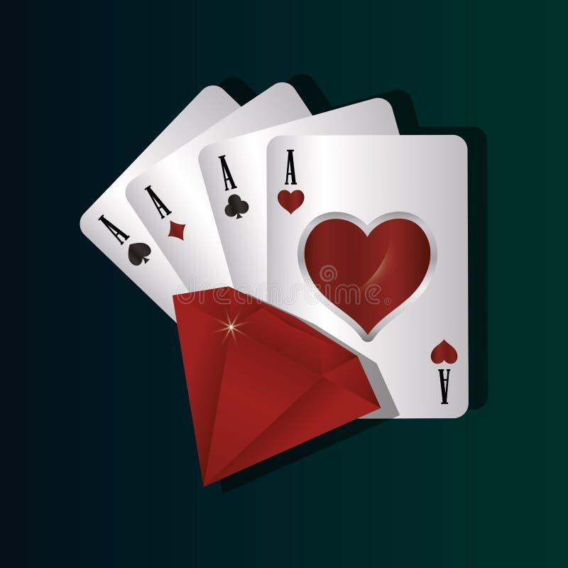 Het concept van het gokcasino royalty-vrije illustratie