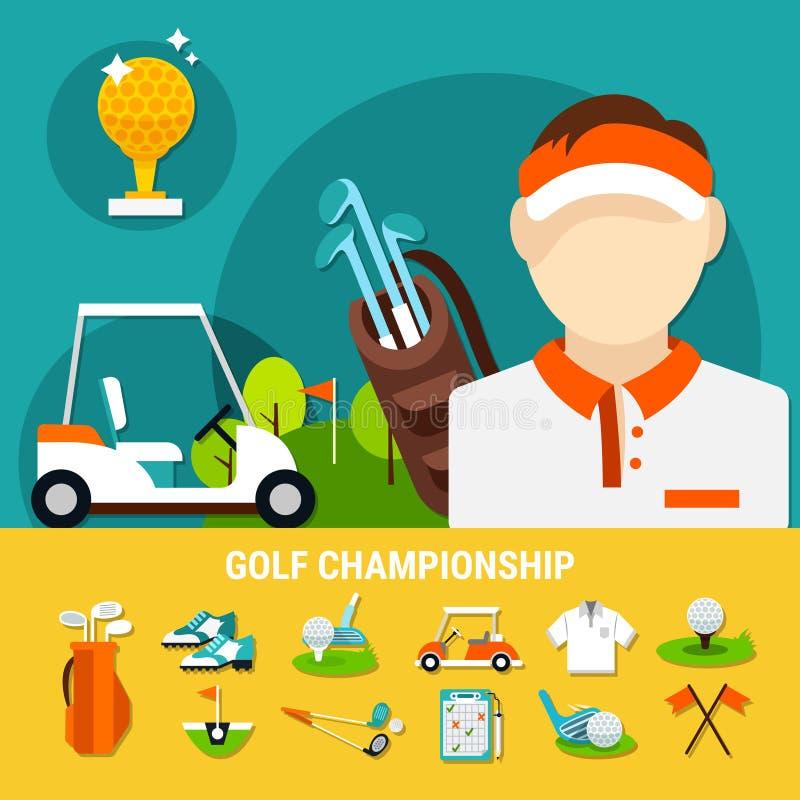 Het Concept van het golfkampioenschap stock illustratie