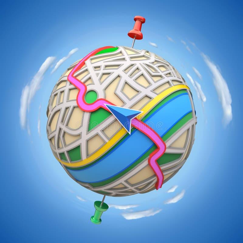 Het concept van GPS vector illustratie