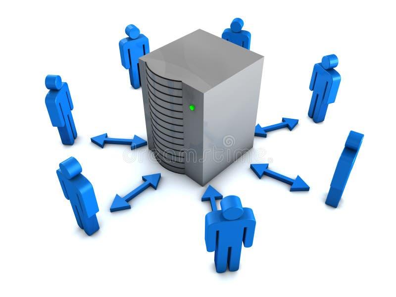 Het concept van Groupware vector illustratie