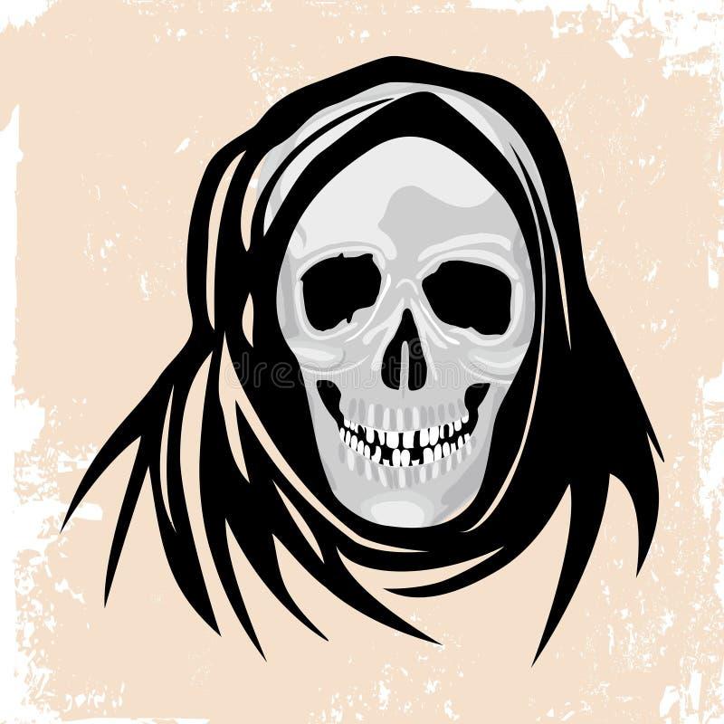 Het Concept Van Halloween Van Het Zwarte Doodmonster. Stock Foto's