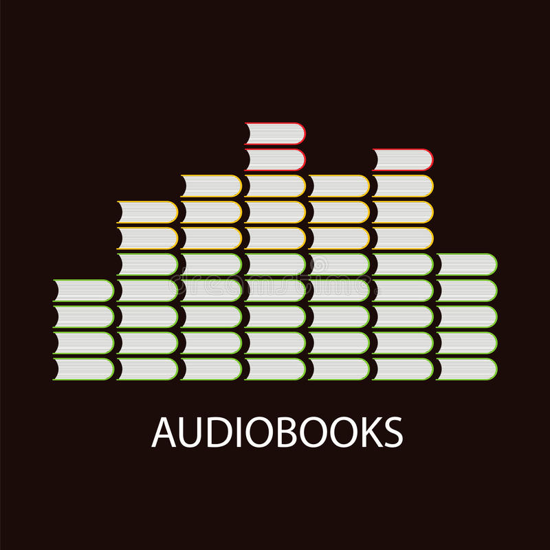 Het concept van het Audiobookvolume stock illustratie