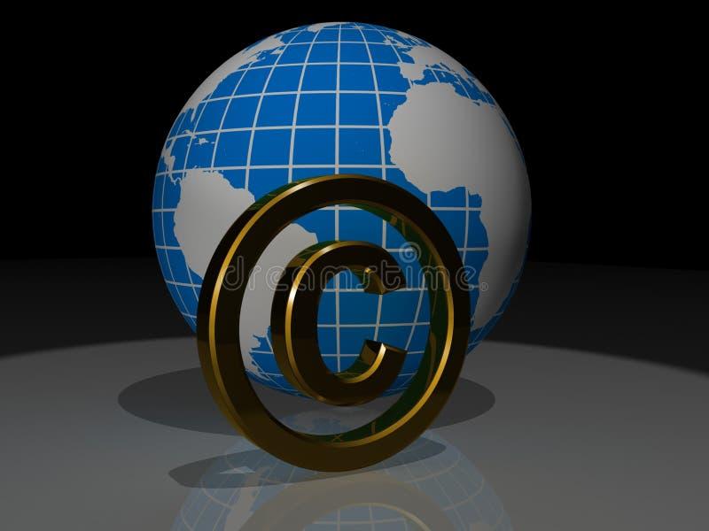 Het concept van het auteursrecht royalty-vrije illustratie