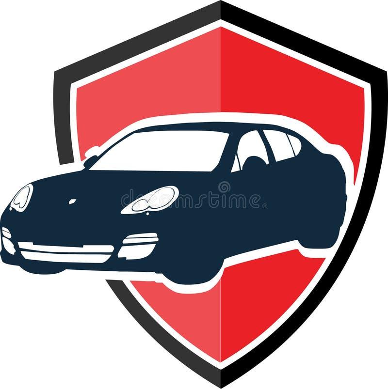 Het concept van het autoembleem vector illustratie
