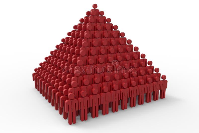 Het concept van het bedrijfgroepswerk vector illustratie